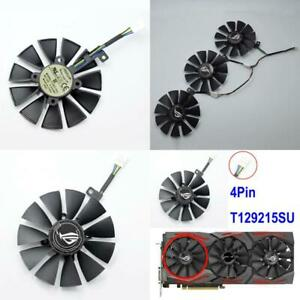 Graphics Video Card Cooler Fan Replacement For ASUS Strix GTX 1000 Series 4-6Pin
