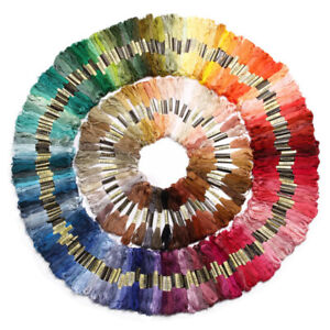 Lot-50-300-Mix-Colors-Cross-Stitch-Cotton-Embroidery-Thread-Floss-Sewing-Skeins