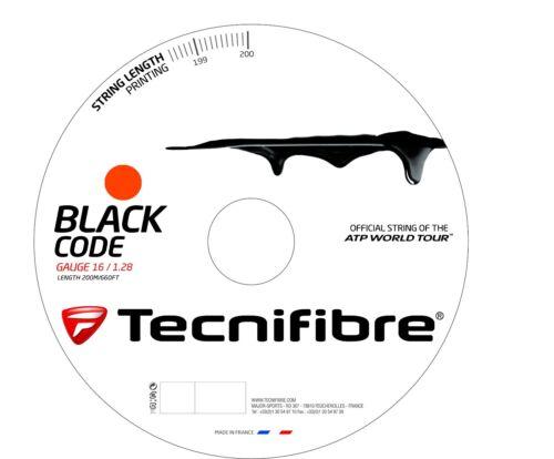 Tecnifibre Black Code Tennis String - 1.28mm/16G - 200m Reel - Fire - BlackCode