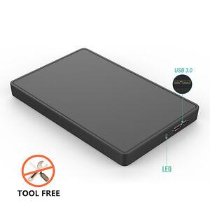 "SATA 2.5"" SDD/HDD HD Hard Drive 5GB/S Enclosure Mobile Disk Case Box USB3.0"