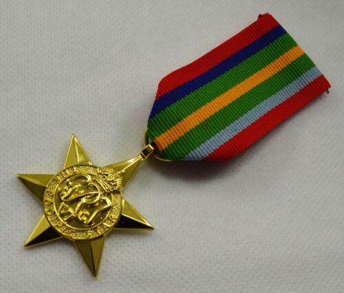 24ct Gold World War 2 Replica Service//Campaign Medal PACIFIC STAR WW2