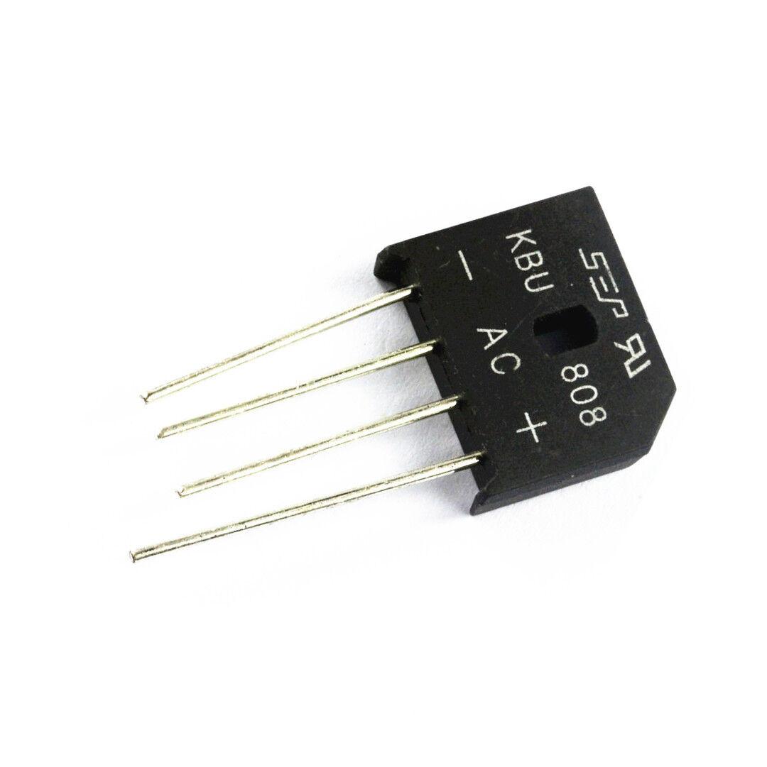 1 pcs KBU808 Bridge Rectifier Gleichrichter 800V AC change DC 8A KBU-808