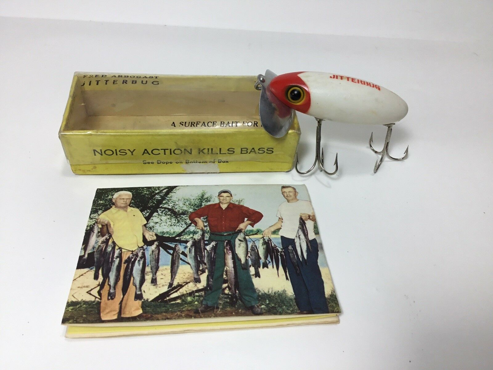 Vintage Fred Arbogast Jitterbug in Red Head New in Box