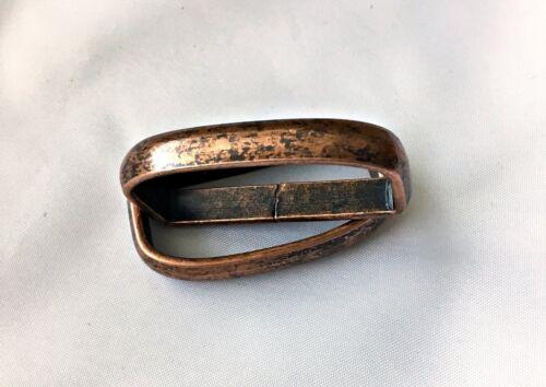 D-Ringe Stahl//Altkupfer 32x14x6,6 2 Flachdrahtschlaufen