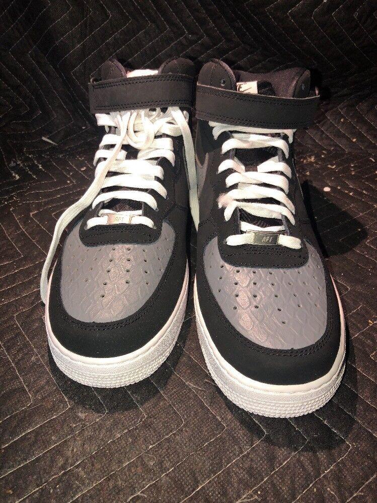 Nike air force 1 mitte 2007 leicht rot schwarz / grau 315123-025 sz 12 cool