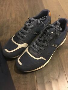 66cdeac94a8 Polo Ralph Lauren Train 100 SK ATH Shoes Blue Men s Size 12 New ...