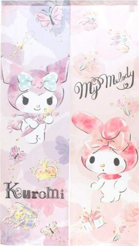 "Kuromi /& My Melody Noren Door Curtain Tapestry 33×59/"" Sanrio Made in Japan"