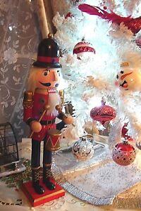 NEW-Christmas-Collectible-NUTCRACKER-Drummer-Red-Gold-Black-16-034-high-Ashland