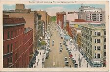Salina Street Looking North Syracuse NY Postcard 1932