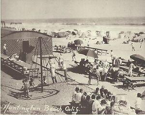 """HUNTINGTON BEACH Surf City PLAYGROUND NEXT TO PIER Photo Print 1356 11"""" x 14"""""""