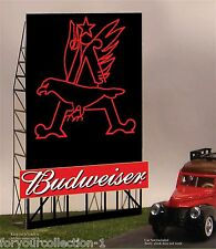 Budweiser Eagle Animated Neon Sign O/HO #88-2301 MILLER ENGINEERING