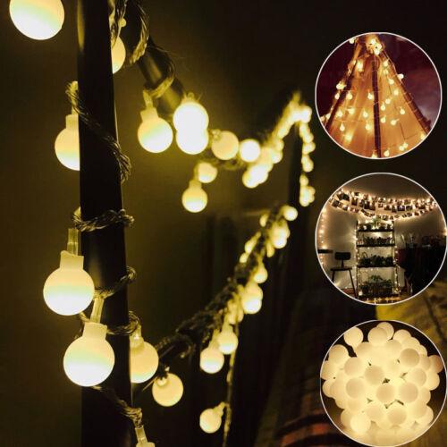 String Light Festoon Wedding Party  Xmas Fairy String Lamp 6M//20LED Globe Deco##