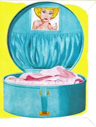 VINTAGE UNCUT 1962 BARBIE PAPER DOLLS~OUT OF PRINT~WHITE FOLDER~#1 REPRODUCTION!