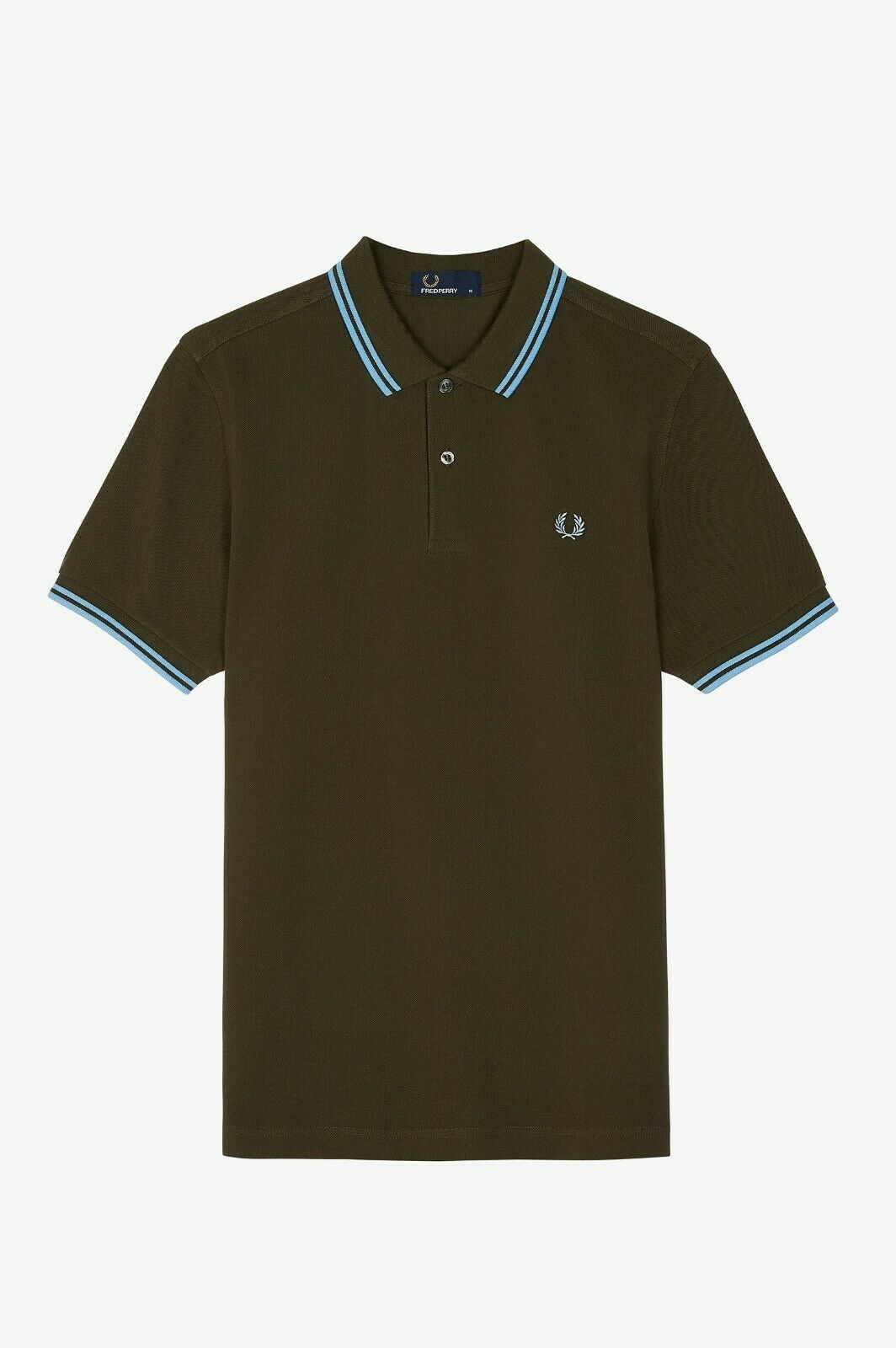 Frot Perry Grün   Sky Blau Polo T-Shirt - Twin Tipped - M3600 - 617