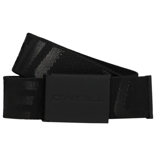 O/'NEILL MENS BELT.NEW LOGO ELASTICATED EMBOSSED BLACK JEANS TROUSERS STRAP 8W 2