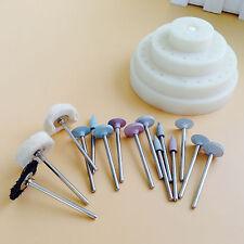 16Pcs/box Dental Silicone Rubber Rotary Wool Wheel & Polishing Burs 2.35mm pit