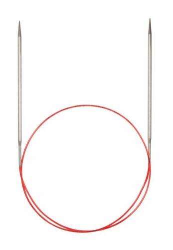47 in ADDI Dentelle Argent Pointe FIXE CIRCULAIRE AIGUILLES à TRICOTER 120 cm environ 119.38 cm