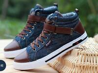 New mens lace-up denim casual sports canvas shoes Fashion sneakers shoes size US
