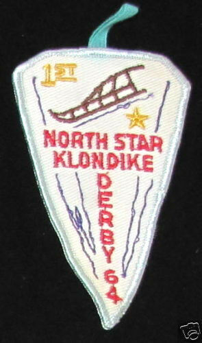 1964 North Star KLONDIKE DERBY 1964 Vintage PATCH 1st Place Boy Scouts Scouting