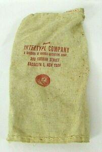 Harris-INTERTYPE-Company-Brooklyn-NY-Lead-Typeset-Bag-linotype-advertising-VTG