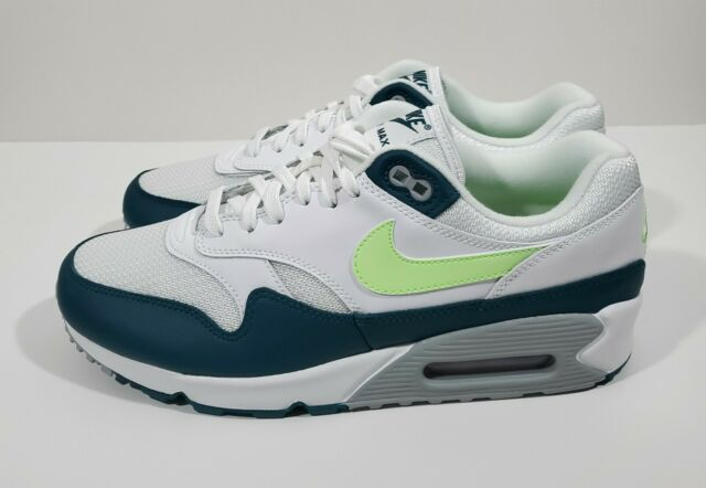 Nike Air Max 90/1 Mens Running Shoes White Lime Blast Wolf Grey Size 12