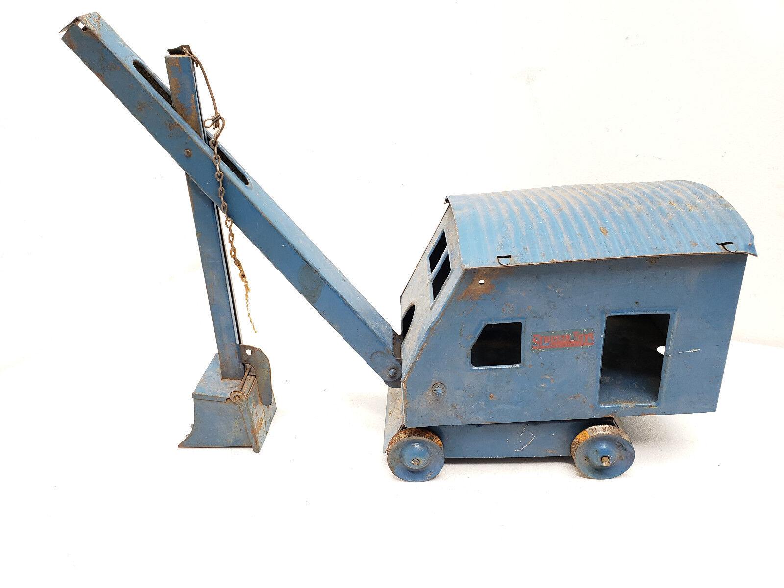 Jahrgang 1940s-50s structo spielzeug dampf schaufel crane innenauskleidungstafein