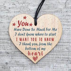 Details About Handmade Wooden Heart Gift Teacher Mentor Friend Childminder Thank You Gifts 015