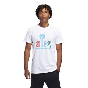 Adidas Men Tshirt Basketball Theme Sports Training ABC Hand Graphic Tee DU6844