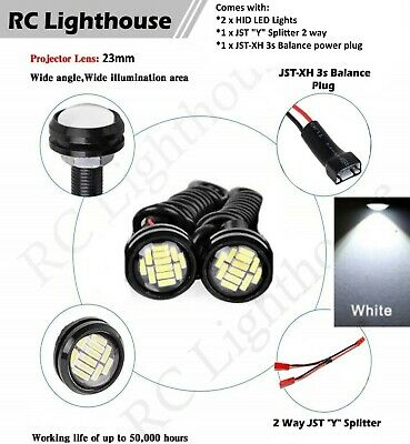 2 Amber or Yellow  HID HD LED Light Bulbs for scale racing 12RC 2HD2A