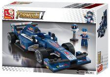 Sluban-Formula 1 Auto De Carreras Azul # b0353
