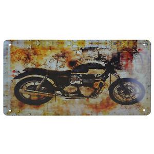 La pubblicità in lamiera SCUDO 20x30 cm MOTO GARAGE OFFICINA ciclomotore Bike