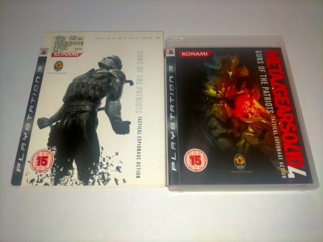 METAL GEAR SOLID 4 GUNS OF THE PATRIOTS WITH RARE COVER SLEEVE   PS3   PRE-OWNED