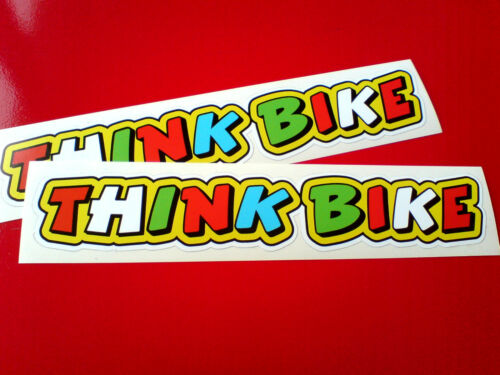 THINK BIKE Car Helmet Fairing Motorcycle Scooter Stickers Decals 2 off 200mm