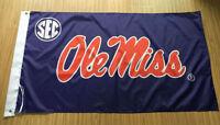 Ole Miss Rebels 3x5 Feet Banner Flag University NCAA University Of Mississippi
