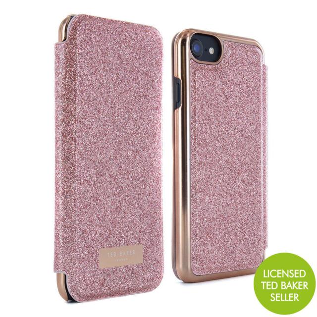 promo code 5c72b e51e5 Official Ted Baker Glitsie Mirror Folio Case Fits iPhone 7 & 6s Rose Gold