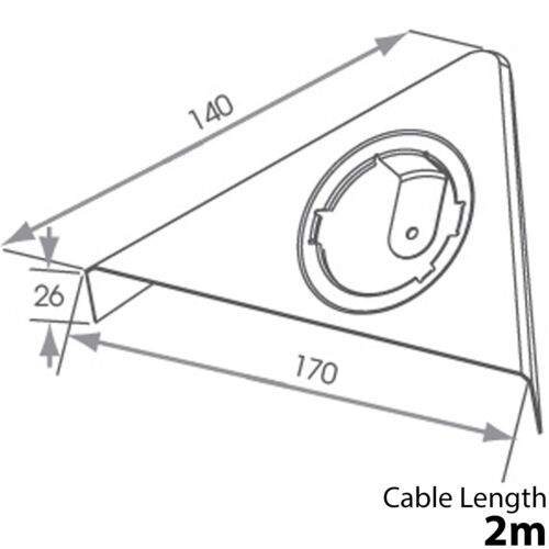 6x 2.6 W LED Spot Luz y controladores de triángulo de Cocina-Acero Inoxidable Acero-Blanco natural