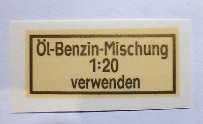 Automobilia Öl-benzin-mischung Schriftzug Wasserabziehbild Abziehbild 10402x 43x18mm Gold Excellent In Cushion Effect