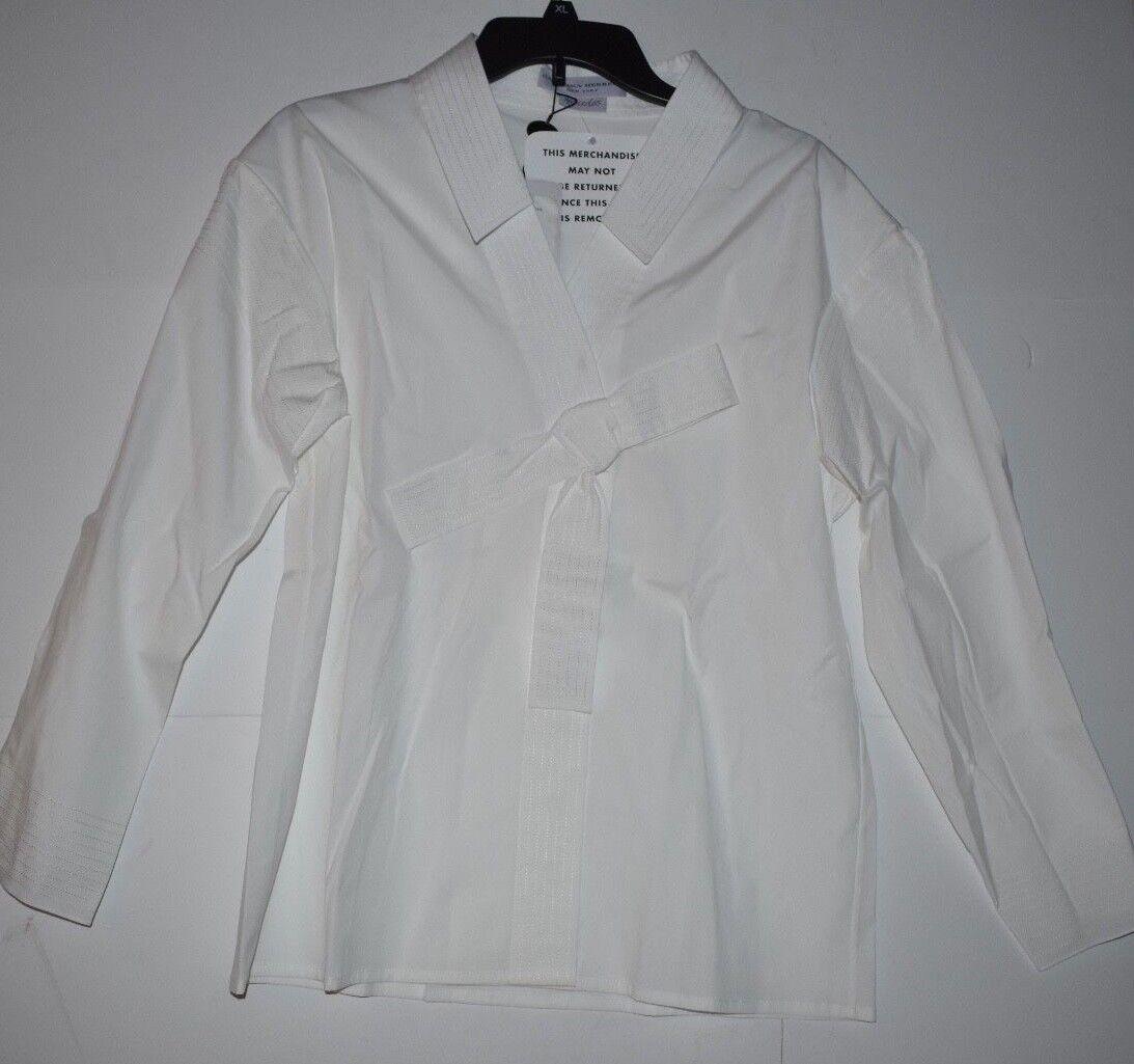 Carolina Herrera Mercedes Weiß Shirt With Bow damen Größe 10