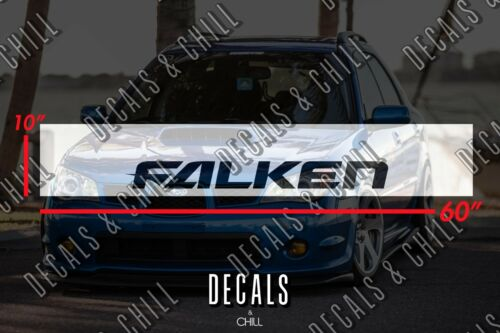 Motorsports Falken Sun Strip Visor Windshield Banner Decal Sticker