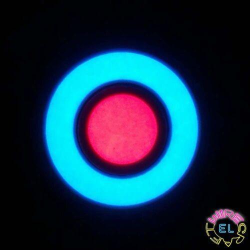 £5.99 many colour combos A 6cm EL Hoop with 3cm EL Button Bullseye