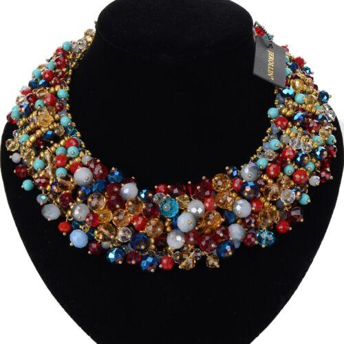 Fashion Femmes Déclaration Chunky Chaîne Résine cristal Choker Bib collier bijoux
