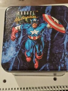 1992-Marvel-Masterpieces-EMPTY-COLLECTOR-TIN
