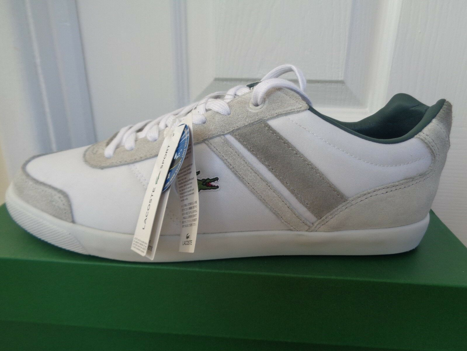 Lacoste Sport Comba PUT SPM mens white/beige shoes sneakers trainers NEW+BOX