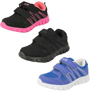 Enfants-Air-Tech-Sprint-Baskets-Noires-Rose-Bleu-Leger-Enfants-Chaussures-Sport