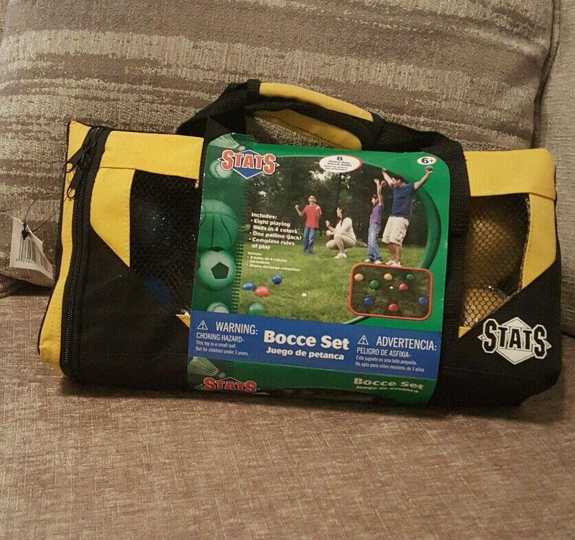 Bocce Set  STATS  Outdoor Game  8 Heavy Duty Balls NIB