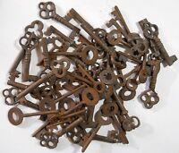 Rusty ornate Skeleton 1800's keys 50 pc lot steampunk #220750