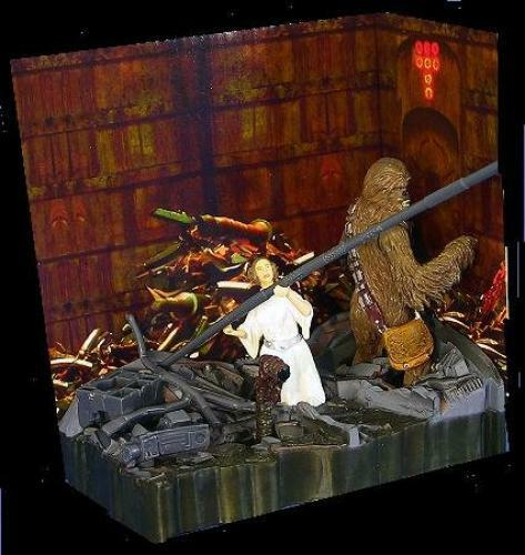 Leia and Chewbacca Death Star Trash Compactor A Nuovo Hope Star Wars Diorama  2