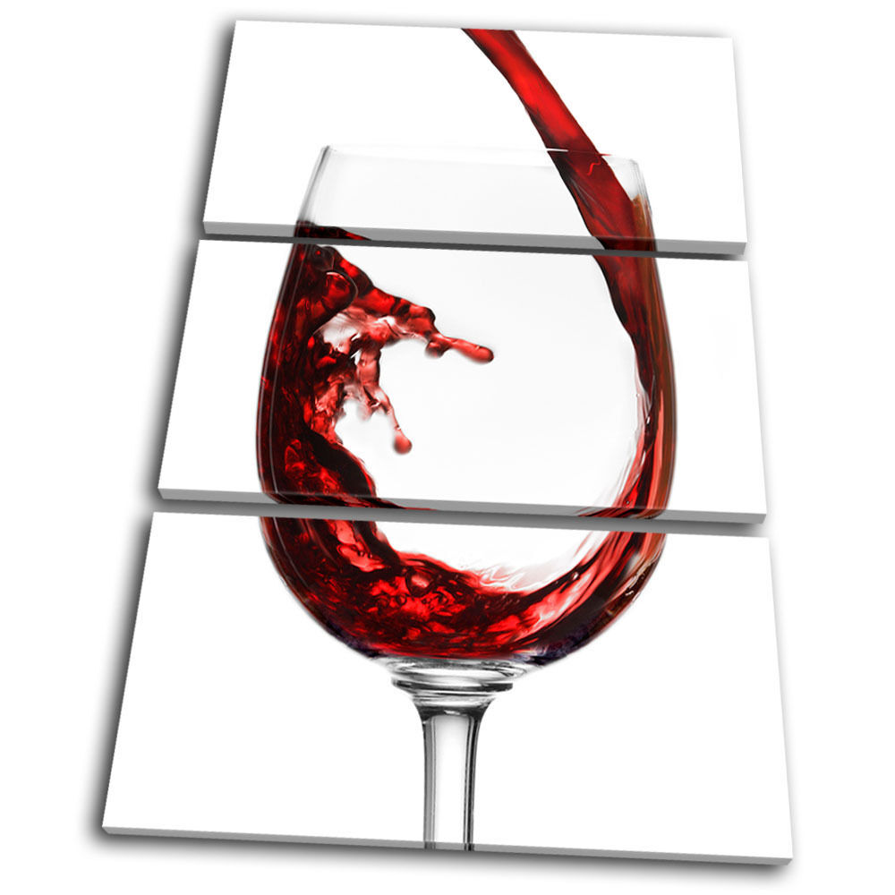 Food Kitchen Kitchen Kitchen Wine Glass TREBLE TELA parete arte foto stampa d33dee