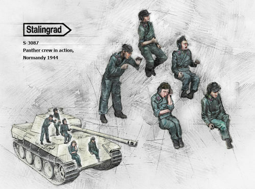 STALINGRAD GERMAN PANTHER CREW BIG SET S-3087