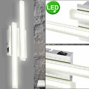 Design Wand Lampe Wohn Zimmer Beleuchtung chrom Dielen Strahler Leuchte rund